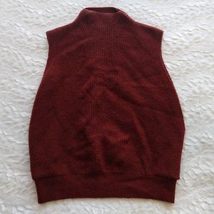 Banana Republic alpaca wool blend orange vest